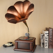 Original New Design Music Retro Iron Crafts Handmade Gift Iron Retro Gramophone Model For Home Decor Ornaments Wrought