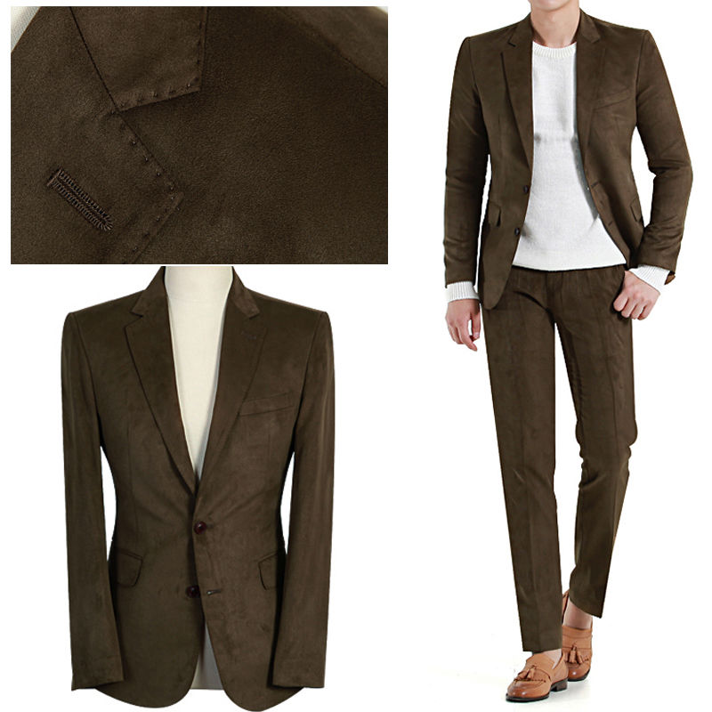 Groomsmen Suits Cheap KHAKI latest coat pant designTuxedos Wedding Suits Custom Made Groom prom party Tuxedos( jacket+Pants+tie)