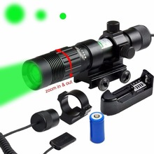 High Auality Aluminum Tactical Hunting Green Adjustable Laser Sight Flashlight Illuminator Designator W/Weaver Mount and Switch(China)