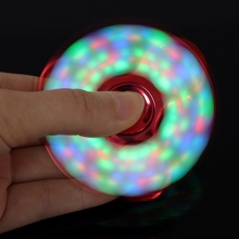 New LED Light Fidget Spinner Finger Plastic EDC Hand Spinner For Autism and ADHD Relief Focus Anxiety Stress Toys Gift
