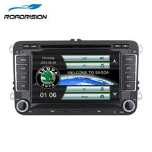 Car DVD Player In-Dash System for Skoda Octavia Superb Yeti Fabia Rapid Roomster with GPS Navigation Bluetooth Steering wheel