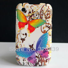 Colorful Butterfly Flower Design Hard Back Skin Cover Case For Blackberry Curve 8520 8530 Phone Coque Funda Capa
