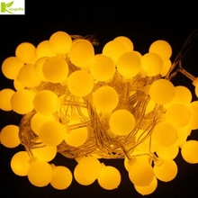 Kingoffer 20M 200 LED Ball Fairy String Lights Lamp Garlands For Christmas Tree Xmas Holiday Wedding Garden Decoration 110V 220V(China)