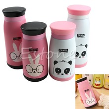 2015 Hot New Stainless Steel Cute Cartoon Animal Vacuum Cup Travel Mug Thermos Bottle