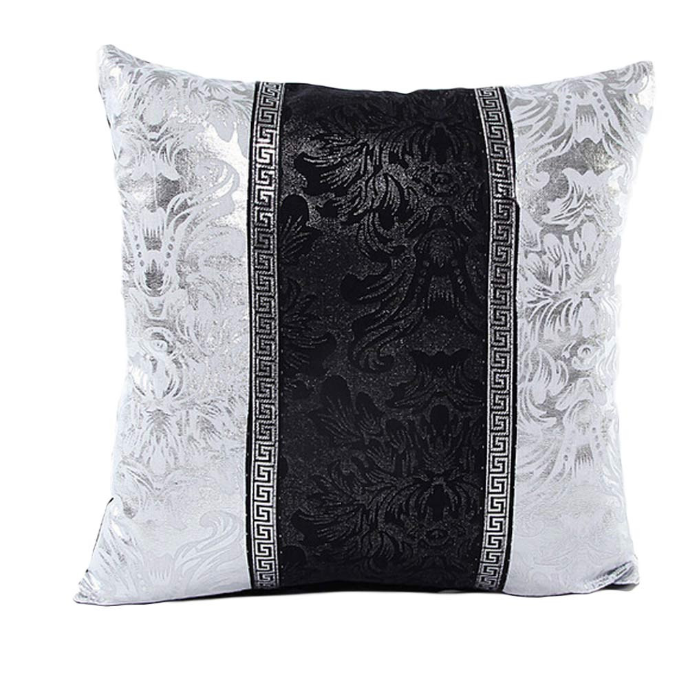 new design porcelain 45x45cm square black white leather cover throw pillow case cushion pillow decorative throw