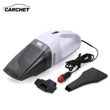 CARCHET Car Vacuum Cleaner Wet And Dry Dual Use Auto Cigarette Lighter Hepa Filter 12V 60W Portable Vaccum Cleaner For Car(China)