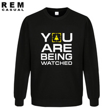 America Movie You Are Being Watched Homme Funny Long Sleeve Hoodies, Sweatshirts