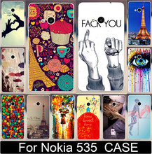 Fashion Eiffel Tower Sweet Home Dream Girl Fack You eye Sex Cases For Microsoft Nokia Lumia 535 Mobile Phone Case Cover Shell
