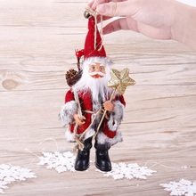 22CM Christmas Happy New Year Gift Party DIY Santa Claus Doll Toy Christmas Tree Ornaments Decoration #253347(China)