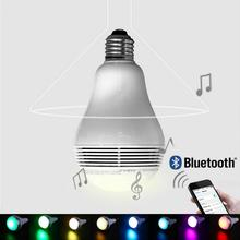 Mabor Luminaria E26/27 Mobile Phone Control Wireless Bluetooth Bulb Speaker Colorful Music Playing LED Light Lamp 5W
