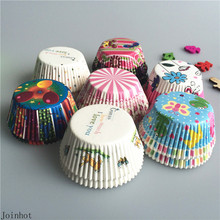 Hot 100 pcs/lot Baking Tools Paper Cupcake Liners Cupcake wrappers Muffin Cases Mix Color Paper Cake Cooking Cups
