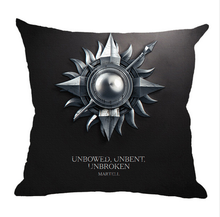 Clan Insignia Print flannel Linen Pillow Cases Seat Chair Game Of Thrones Nine Family Square pillowcase(China)