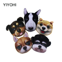 YIYOHI New Cute Style Novelty 3D Animals Cat & Dog Zipper Plush Coin Purse Kawaii Children Coin Purse Women Wallet Mini Handbag(China)