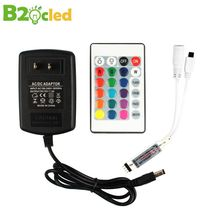 Ultra thin Mini IR24 key controller colorful LED soft light with 12V remote control manufacturers