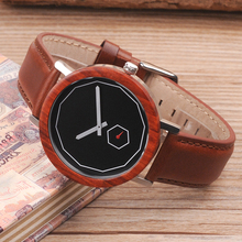 2017 Luxury Brand BOBO BIRD Watches Men Leather Strap Wood Watch Japan Move Quartz Wristwatches  relogio masculino C-M28