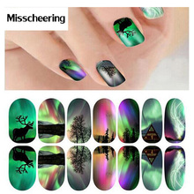 1pcs New Luminous Nail Art Stickers Adhesive Nail Foils Full Cover Nail Tip Wraps Decals Decorations Tools