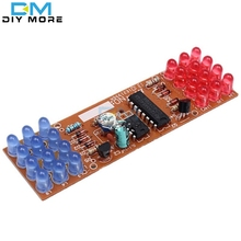 Red Blue Double Color Flashing Lights Kit Strobe NE555 + CD4017 Practice Learning DIY Kits Electronic Suite