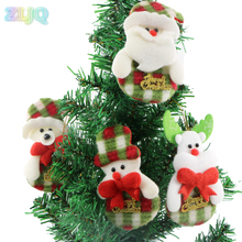 10pcs/lot Santa Claus Pendant Christmas Ornaments Xmas Festival Party Home Decor Navidad Decoracion Christmas Decoration 7D(China)