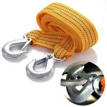 3M 3 Tons Car Truck Tow Cable Towing Strap Rope With Hooks Road Recovery Emergency String(China)