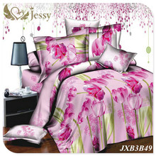 JESSY HOME 4Pcs Bedding Sheet Set 3d Modern Style flower Red Rose spring Garden bed linens queen king size