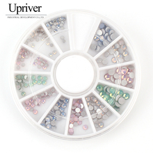 Upriver Mix Opal 4 Colors Or Mix Opal Size Color Flat Back Glass Crystal Glue On Non Hotfix Rhinestone With Nail Srt Boxes