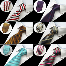 RBOCOTT Men's Classic Ties 8cm Necktie Blue Striped Tie Black Floral Neck Tie Yellow & Purple & Silvery For Business Red Wedding(China)