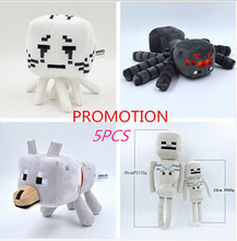5pcs/lot Minecraft Toys High Quality Minecraft Plush Toys Movie & TV Minecraft Toys For Children Presents Wholesale