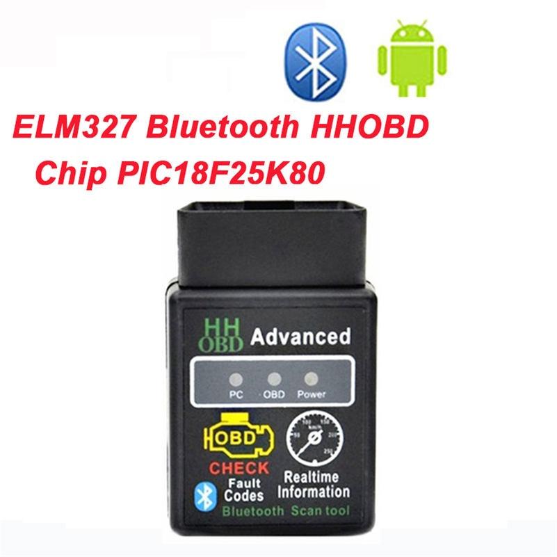High Quality PIC1825K80 Chip Super Mini ELM327 Bluetooth Firmware V1.5 OBD2 Diagnostic Tool ELM 327 V1.5 Bluetooth with switch