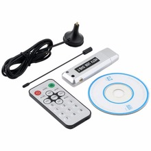 mini DVB-T USB tuner tv receiver DVB T HD digital TV antenna DVBT HDTV satellite receiver Stick Dongle for Windows 7 / Vista(China)