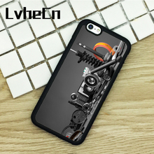 LvheCn TPU Phone Cases For iPhone 6 6S 7 8 Plus X 5 5S 5C SE 4 4S ipod touch 4 5 6 Cover Auto Mechanic Car Parts(China)