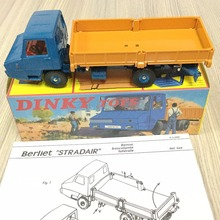 Atlas DINKY Toys 1:43 REF. 569 BERLIET STRADAIR BENNE BASCULANTE LATERALE Diecast Alloy Car model Toys Model BLUE ORANGE(China)