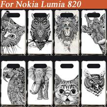 8 styles Fashion DIY printed hard mobilephone case cellphone case hood cover shell for nokia lumia 820 nokia 820