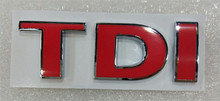 3D Metal TDI Badge Emblem Decal Sticker Logo for VW Golf JETTA PASSAT MK4 MK5 MK6 skoda seat Car-styling accessories(China)