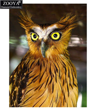 ZOOYA 5D DIY Diamond Painting Owl Full Square Crystal Diamond Painting Cross Stitch Brown Owl Animal Needlework Home Decorative(China)