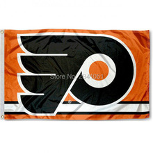 2 Color Philadelphia Flyers Banner Outdoor Indoor Team Hockey College Flag 3X5 Custom Any Flag(China)