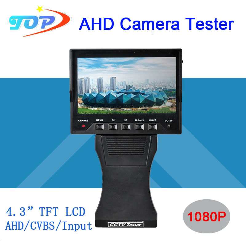 4.3 inch TFT LCD MONITOR COLOR 1080P/ 960P/720P/ 960H Grip and Folding AHD CAMERA TESTER With Network Cable Test  Freeshipping<br><br>Aliexpress