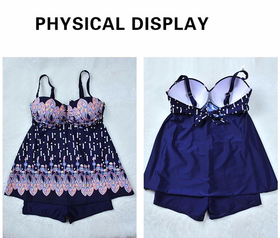 17 Dress Swimsuit Skirt Bathing suit One piece bathing suit Floral Print Swimsuit Women Plus size Swimwear One-piece Monokini 9