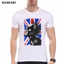 New 2017 Summer Vintage English flag  Print T Shirt Men's High Quality Punk Not dead O-neck Brand Tops Hipster Tees pb426