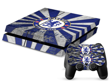 Popular Chelsea Football Club Vinyl Decal PS4 Skin Stickers Wrap for Sony PlayStation 4 PS4 and 2 Controllers Cover Decals