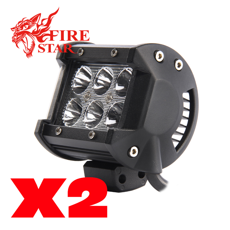 2 Pcs/Set  3.9 inch 18W 4x4 off-road led offroad light bar for ATV SUV Truck Boat Flood Beam 1440 Lm IP67 Universal<br><br>Aliexpress