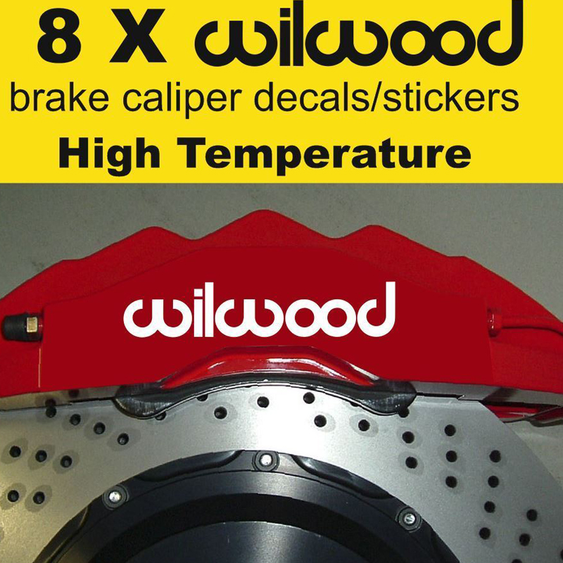 8 X Wilwood Brake Caliper Decals Stickers Vinyl Emblem Graphics Car(China (Mainland))