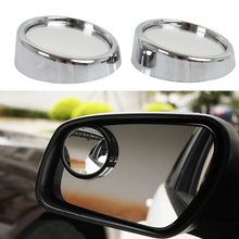 New Driver Safety 2 Side Car Rearview Mirror Wide Angle Round Convex Blind Spot Mirror