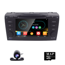 "Free Camera 7"" Double 2 Din Car Stereo DVD Player Navigation for Mazda 3 Mazda3 2004-2009 with GPS, Bluetooth, iPod, USB, SD, 3G(China)"