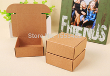 More sizes small Blank kraft paper gift carton box , brown cardboard soap packaging paper box small craft gift paper box