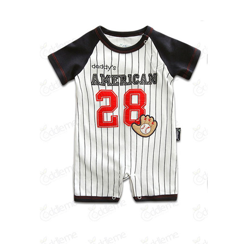 Newborn Baby Girl Boys Summer Ball Sports Striped Rompers Clothes Infant Toddler Baby Boy Unisex Brand Jumpsuit Onesie Costume<br><br>Aliexpress