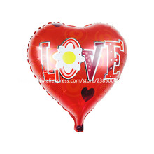 10pcs/lot 18inch I LOVE YOU Balloon Valentine day Wedding Decorations party supplies Heart shape love foil balloons
