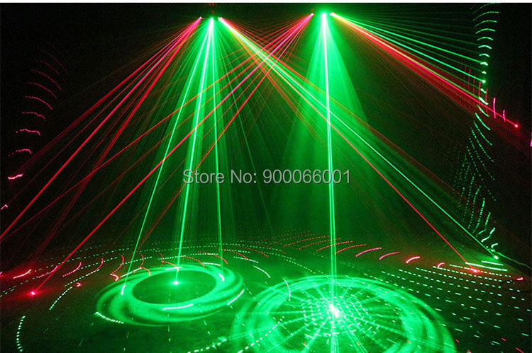 DMX disco Scanner Laser Stage Light club Dance pattern effect show LED beam Projector for home party (11)