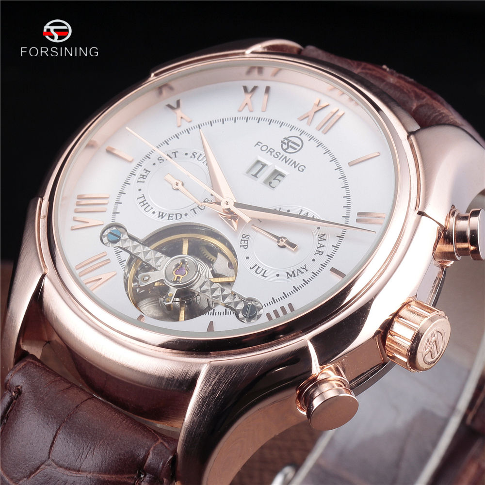 FORSINING Men Watches 2016 Top Brand Luxury Tourbillon Wristwatch Men Gold Watch Military Automatic Watch Relogio masculino<br>