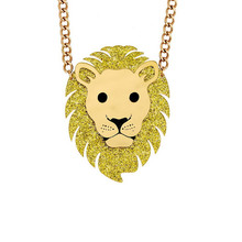Kpop Cute Fashion Women Accessories Jewelry Chain Necklaces Acrylic Lion Shaped Pendant Perfume Feminino Femme Joyas Necklace(China)