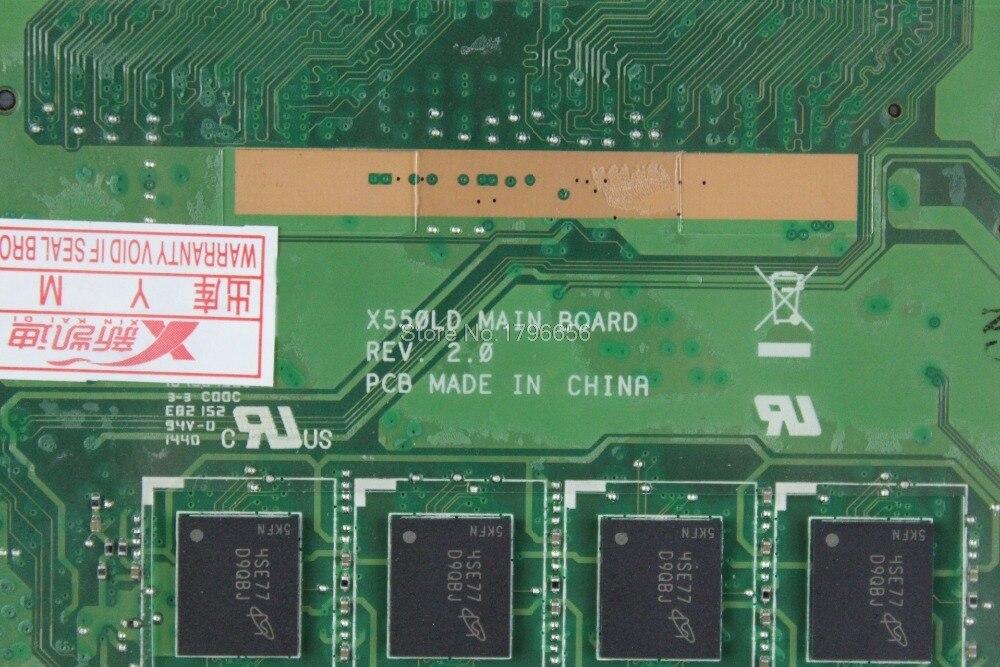 X550LD Laptop motherboard GT840M I7-4500U for ASUS X550LC A550L Y581L W518L X550LN Test mainboard X550LD motherboard test ok